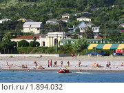Пляж поселка Цандрипш в Абхазии (2010 год). Стоковое фото, фотограф Галина Щурова / Фотобанк Лори