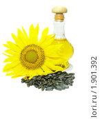 Купить «Подсолнечное масло, подсолнечник и семечки», фото № 1901392, снято 16 июля 2010 г. (c) Blekcat / Фотобанк Лори