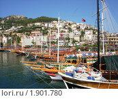 Купить «Порт в Алании, Турция», фото № 1901780, снято 28 июня 2010 г. (c) Татьяна Крамаревская / Фотобанк Лори