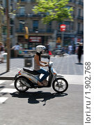 Девушка на мотоцикле (2010 год). Редакционное фото, фотограф Сергей Землянов / Фотобанк Лори