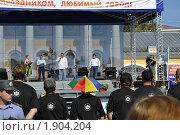 Губернатор Костромской области Слюняев И.А. в День города (2010 год). Редакционное фото, фотограф Смирнов Денис / Фотобанк Лори
