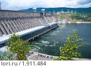 Купить «Красноярская ГЭС», фото № 1911484, снято 2 июля 2010 г. (c) Сергей Болоткин / Фотобанк Лори