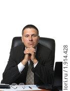 Купить «Бизнесмен на рабочем месте», фото № 1914428, снято 21 июля 2010 г. (c) Сергей Галушко / Фотобанк Лори