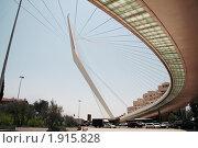Подвесной мост в Иерусалиме (2010 год). Редакционное фото, фотограф Алёна Рубцова / Фотобанк Лори
