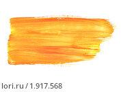 Купить «Мазок оранжевой  краски», фото № 1917568, снято 19 августа 2010 г. (c) Роман Сигаев / Фотобанк Лори