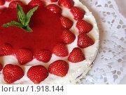 Купить «Творожный торт с клубникой. Крупный план», фото № 1918144, снято 31 мая 2009 г. (c) Людмила Травина / Фотобанк Лори