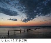 Строительство нового моста через Волгу в Ульяновске (2008 год). Стоковое фото, фотограф Парамонов Максим / Фотобанк Лори