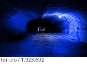 Купить «Проходка в соляном руднике (в голубых тонах)», фото № 1923692, снято 19 сентября 2008 г. (c) Ivan Ru / Фотобанк Лори