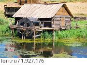 Купить «Деревянная водяная мельница», фото № 1927176, снято 17 августа 2010 г. (c) Яков Филимонов / Фотобанк Лори