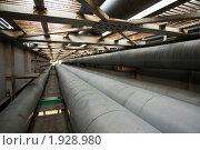 Промышленная теплотрасса. Стоковое фото, фотограф Андрей Комаров / Фотобанк Лори
