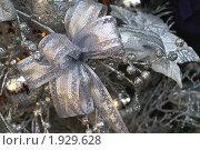 Купить «Поздравительная открытка с серебряным украшением», фото № 1929628, снято 16 декабря 2007 г. (c) Ольга Липунова / Фотобанк Лори
