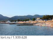 Пляж Кабардинка (2010 год). Стоковое фото, фотограф Олег Юрмашев / Фотобанк Лори