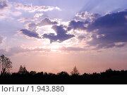 Купить «Закат в розово-голубых тонах», фото № 1943880, снято 13 мая 2010 г. (c) Анастасия Некрасова / Фотобанк Лори