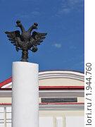 Тобольские ворота Омской крепости, пограничный столб (2010 год). Стоковое фото, фотограф Григорий Никуленко / Фотобанк Лори