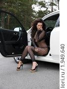 Красивая девушка в машине. Стоковое фото, фотограф Дмитрий Смиренко / Фотобанк Лори
