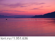 Закат на море. Стоковое фото, фотограф Павличенко Наталья / Фотобанк Лори