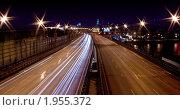 ТТК (Треть транспортное кольцо) ночью (2010 год). Стоковое фото, фотограф Антон Ляшенко / Фотобанк Лори