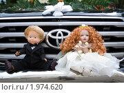 Купить «Свадебные куклы на автомобиле», фото № 1974620, снято 21 мая 2019 г. (c) Виктор Водолазький / Фотобанк Лори