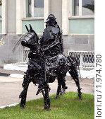 Купить «Ессентуки, скульптура Рыцарь из металла, техноарт», фото № 1974780, снято 6 сентября 2010 г. (c) Борис Останкович / Фотобанк Лори