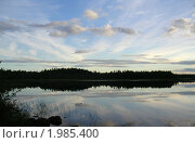 Закат на реке Суна. Стоковое фото, фотограф Валентин Сурков / Фотобанк Лори