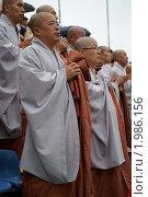 Купить «Молитва буддистских монахов на съезде в день рождения Будды», эксклюзивное фото № 1986156, снято 4 мая 2008 г. (c) Ольга Липунова / Фотобанк Лори