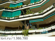 Балконы жилого дома. Стоковое фото, фотограф Светлана Силецкая / Фотобанк Лори
