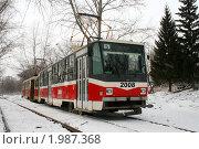Купить «Трамвай», фото № 1987368, снято 17 марта 2008 г. (c) Art Konovalov / Фотобанк Лори