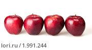 Купить «Четыре красных яблока», фото № 1991244, снято 13 мая 2010 г. (c) Максим Лоскутников / Фотобанк Лори