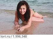 Девушке холодно в воде. Стоковое фото, фотограф Дарья Фролова / Фотобанк Лори