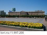 Площадь в Хабаровске (2010 год). Редакционное фото, фотограф Янчук Константин Анатольевич / Фотобанк Лори