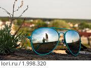 Отражение в очках. Стоковое фото, фотограф Олег Храмочкин / Фотобанк Лори