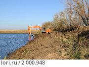 Очистка пруда от ила (2010 год). Редакционное фото, фотограф Андрей Кириллов / Фотобанк Лори