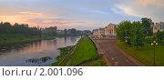 Торжок.Панорама исторической части города. Стоковое фото, фотограф Юрков Виктор Петрович / Фотобанк Лори