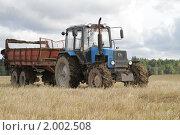 Купить «Полевые работы», фото № 2002508, снято 6 сентября 2010 г. (c) Андрей Жухевич / Фотобанк Лори