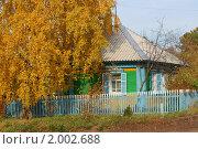 Осенняя деревня. Стоковое фото, фотограф Андрей Чугуй / Фотобанк Лори