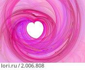 Купить «Сердце на розовом фоне», иллюстрация № 2006808 (c) Светлана Привезенцева / Фотобанк Лори