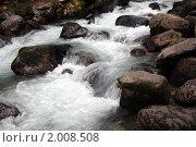 Купить «Горная река», фото № 2008508, снято 20 августа 2010 г. (c) Александр Давыдов / Фотобанк Лори