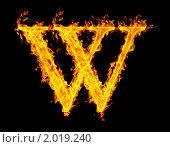 Купить «Огненная буква W», иллюстрация № 2019240 (c) Максим Лоскутников / Фотобанк Лори
