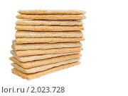 Стопка диетических хлебцев изолированно. Стоковое фото, фотограф ac / Фотобанк Лори