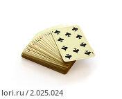 Купить «Колода игральных карт», фото № 2025024, снято 8 августа 2010 г. (c) Марина Сапрунова / Фотобанк Лори