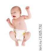 Купить «Новорожденный малыш в подгузнике», фото № 2025732, снято 24 сентября 2010 г. (c) Яков Филимонов / Фотобанк Лори