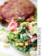 Котлета с салатом. Стоковое фото, фотограф Tatiana / Фотобанк Лори