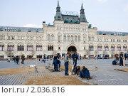 Купить «Ремонт брусчатки на Красной площади», фото № 2036816, снято 6 апреля 2010 г. (c) Михаил Ворожцов / Фотобанк Лори