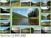 Купить «Коллаж, река Чусовая», фото № 2041680, снято 19 июля 2019 г. (c) Александр Агафонов / Фотобанк Лори
