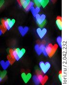 Купить «Фон боке в форме сердец», фото № 2042232, снято 11 октября 2010 г. (c) Дарья Петренко / Фотобанк Лори