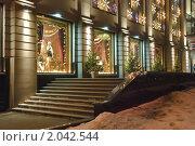 Купить «Витрина ЦУМа вечером. Фрагмент», эксклюзивное фото № 2042544, снято 28 декабря 2009 г. (c) Алёшина Оксана / Фотобанк Лори