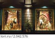 Купить «Витрина ЦУМа вечером. Фрагмент», эксклюзивное фото № 2042576, снято 28 декабря 2009 г. (c) Алёшина Оксана / Фотобанк Лори