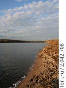 Осенний пляж на Оке. Стоковое фото, фотограф Tatyana Kubasova / Фотобанк Лори