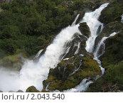 Водопад в горах. Стоковое фото, фотограф Мария Васильева / Фотобанк Лори