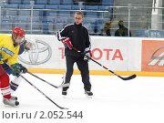 Купить «Мастер - класс легенд мирового хоккея в Балашихе», эксклюзивное фото № 2052544, снято 13 октября 2010 г. (c) Дмитрий Неумоин / Фотобанк Лори
